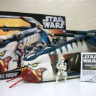 Star Wars Republic Gunship Clone Wars w/ pilot loose complete w/ box instructions Hasbro 2006