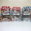 Galactic Heroes Lot of 6 2-packs Star Wars 12 figures Hasbro - Mace Cad Bane Rebel Snow Trooper