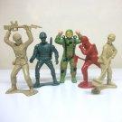 "5"" tall plastic army men lot vintage big jumbo soldiers marx"