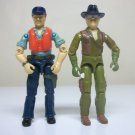 1983 Cutter & Wild Bill lot G.I. Joe vintage figures killer w.h.a.l.e. dragon fly pilot gijoe 1984