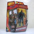 """DC Multiverse 3.75"""" Deathstroke figure Arkham Origins slide wilson Mattel 2014"""