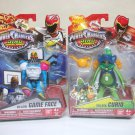 Power Rangers lot Game Face & Curio Dino Charge Villains lot of 2 super Bandai 2015