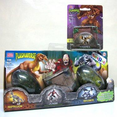 Plasma Toys R Us 3-pack & Vampire Raptillion Zombie Trylobite tru 3pk plasmaverse kreaps Mega Bloks