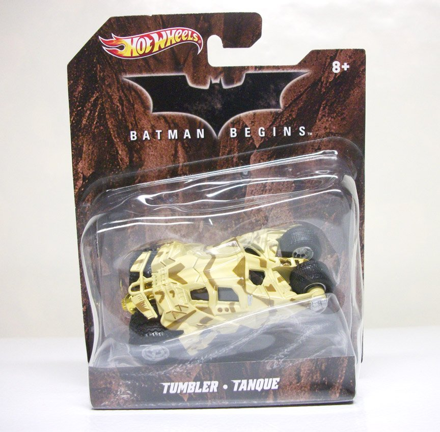 2012 1:50 Camo Tumbler Batmobile Hot Wheels Batman Begins camouflage tan Mattel - warped bubble