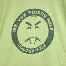 Mr. Yuk Poison Help t-shirt Men's fitted green medium pre-owned yuck thunder creek awareness