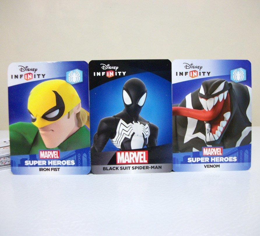 Venom Iron Fist Black Suit Spider-man web code Marvel Disney Infinity 2.0 3.0 card lot new unused
