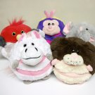 2006 Mushabelly Chatter plush Lot of 5 animals Elephant, Bird, Bug, Bunny & Horse Jay At Play