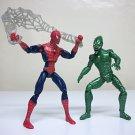 "Spider-man 3 Green Goblin & Spidey loose figure lot 5"" movie web Marvel Hasbro 2006"