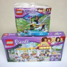 Lego Friends lot Supermarket & Adventure Camp Bridge sets new sealed Heartlake 41118 30398