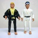 1986 Karate Kid Daniel & Johnny lot of 2 vintage figures larusso lawrence Remco 80s movie