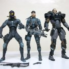 "Metal Gear Solid 2 Solid Snake Raiden Solidus Snake Lot of 3 McFarlane Toys 6"" sons of liberty 2001"