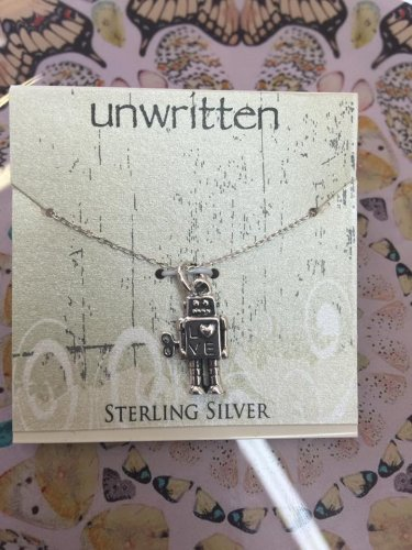 Unwritten robot necklace