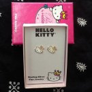 Hello Kitty Sterling Silver Stud Earrings