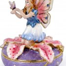 Fairy on Lily - Jewelry Box