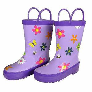Foxfire for Kids Flower Rain Boots (size 10)