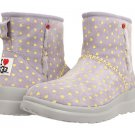 I Heart UGG Kisses Mini Boot Moonstone Hearts Suede (size 5)