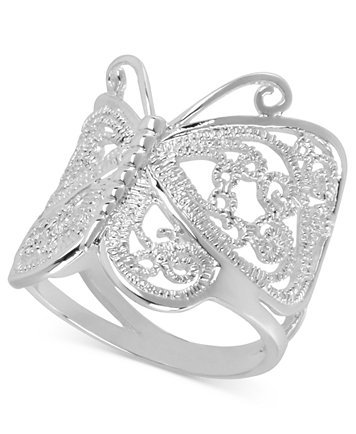 Butterfly Silver-Plated Ring (Size 7)