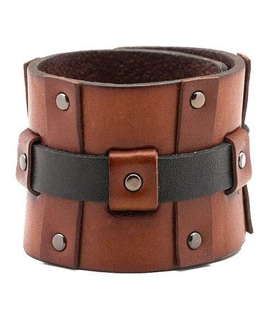 Calvin Klein Leather Cuff Bracelet