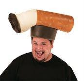 "Crazy Costume Hats for Halloween - Men's ""Don't Be A Butt Head"" Foam Hat"