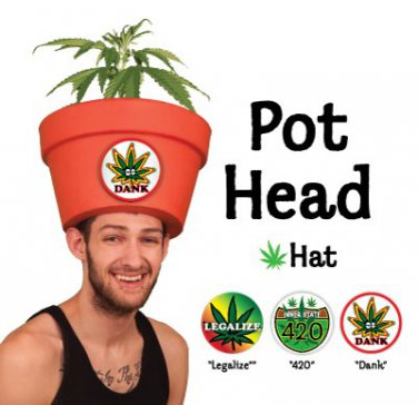 Funny Hippie Costumes - Legalize Weed Hipster Pothead Hat Combo