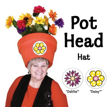 Easy to Wear Costume Hats for Her - Funny Women's Floral Pothead Hat Combo