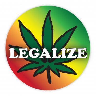 Rasta Reggae Bob Marley Legalize Marijuana Sticker Decal