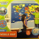 **NEW DISCOVERY KIDS TOYS 76pc HANGING ACTIVITY WORLD MAP**