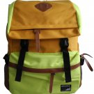 Korean Style Backpack Fluorescent Yellow bookbag Travel Bag School Chic Leisure