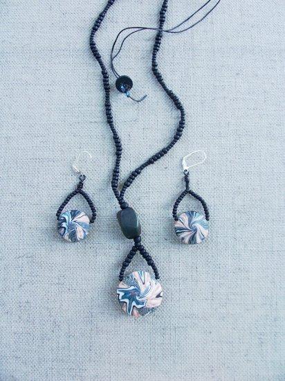 Solitary Turquoise Swirl, set