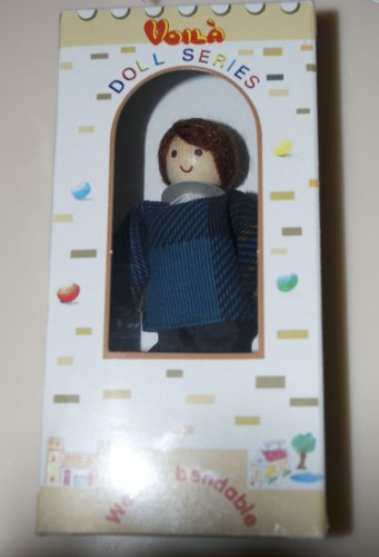Voila Bendable Wooden Doll Series Dollhouse Father Doll