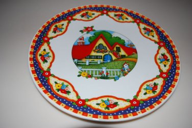"""Mary Engelbreit Cottage House Plate Dish 10"""""""