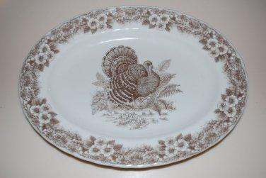 Queen's Thanksgiving Turkey Platter Serving Dish Plate Myott Factory Archive Illustration