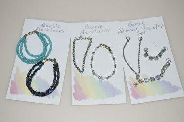Barbie Jewelry Necklaces Handmade Set Lot