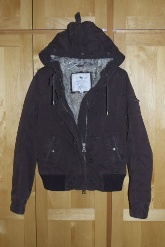 Abercrombie & Fitch Heavy Brown Fur Coat Jacket M