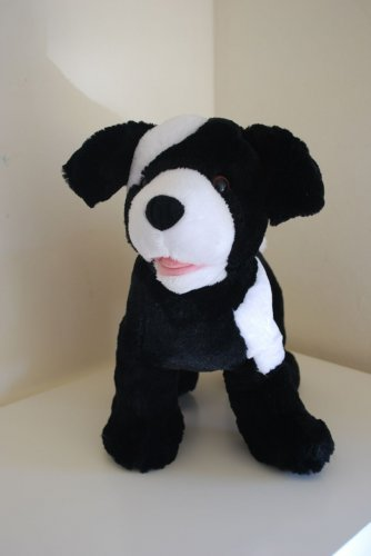 "Build A Bear Black White Dog Puppy 12"""