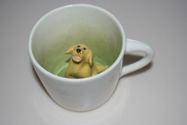 Spademan Pottery Yellow Labrador Lab Animug Mug Cup