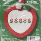 NMI Needlemagic Stitch 'N Frame Crazy Quilt Red Poppies Embroidery Ornament Kit