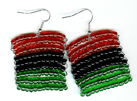 African American Flag Earrings