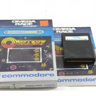 Omega Race Game Cartridge For Commodore 64 C64 With Box & Manual