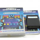 Pinball Spectacular Game Cartridge For Commodore 64 C64 With Box & Manual