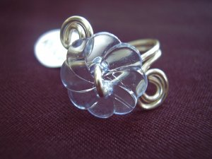 Blue Flower Toe Ring