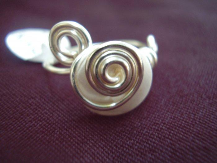 Pearl White Toe Ring