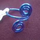 Blue Swirl Toe Ring