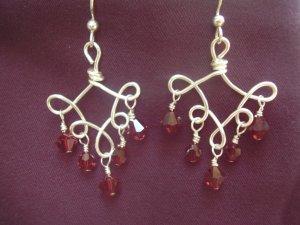 Siam Red Earrings
