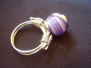 Purple Circles Ring