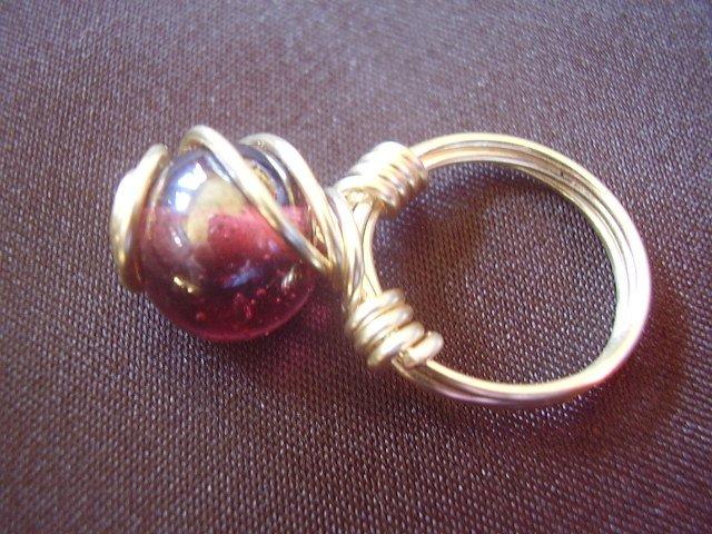 Dark Pink Ring