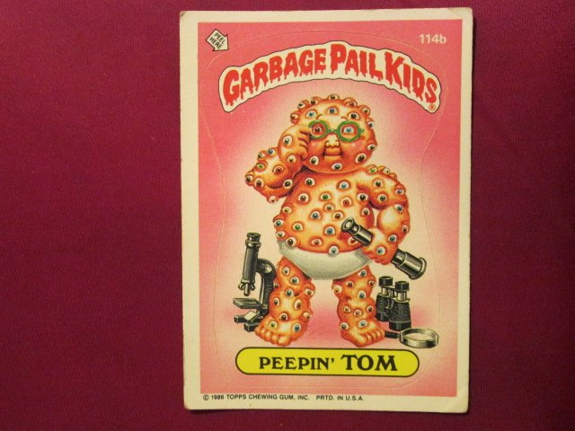 Garbage Pail Kids (Trading Card) 1986 Peepin Tom #114b
