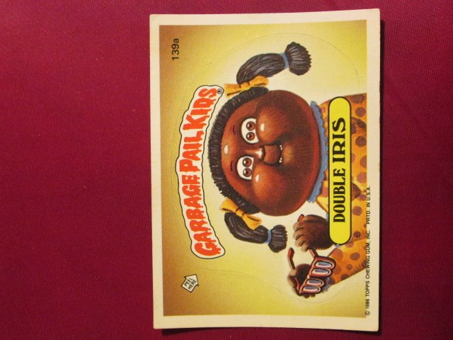 Garbage Pail Kids (Trading Card) 1986 Double Iris #139a