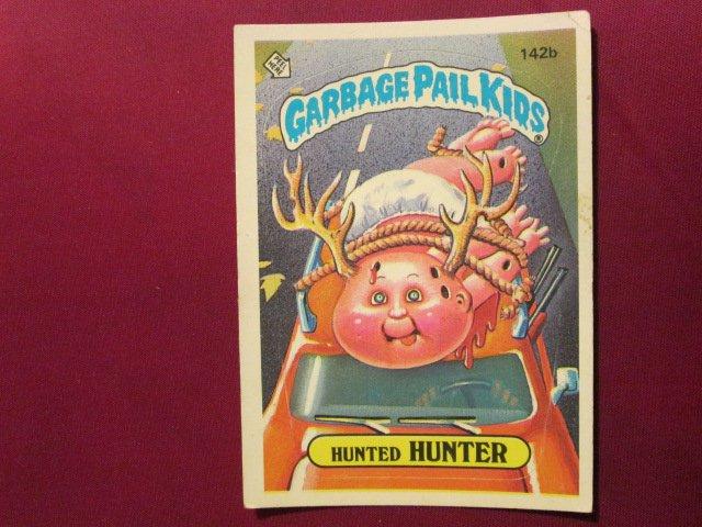 Garbage Pail Kids (Trading Card) 1986 Hunted Hunter #142b