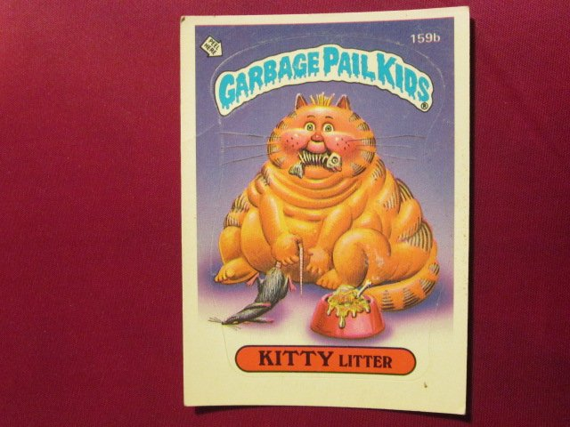 Garbage Pail Kids (Trading Card) 1986 Kitty Litter #159b